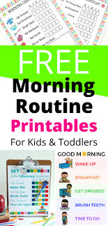 Daily Routine Printable Free Morning Routine Printables For Kids This Mom Life