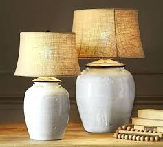 table lamps for living room ceramic table lamp base ivory pottery barn regarding lamps for