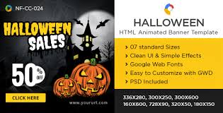 halloween sale flyer html5 halloween banners gwd 7 sizes by doto codecanyon