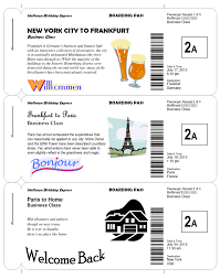 Make Free Tickets Making Fake Boarding Passes As Gifts Le Chic Geek