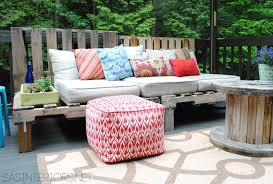 outdoor pallet furniture ideas. DIY: Outdoor Pallet Sofa - Jenna Burger A Summer Essential For The Patio Or Deck: An Easy To Furniture Ideas