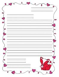 Valentines Day Letter Template Valentines Day Friendly Letter Template By Adventures In Esol Tpt