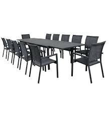 13 piece outdoor dining set piece extension table setting with sling chairs montreal 13 piece outdoor dining setting