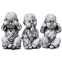 statue 3 x bouddha moine de pierre sont expédiés au gel jusque 30