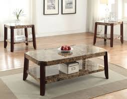 coffee table faux marble brown for