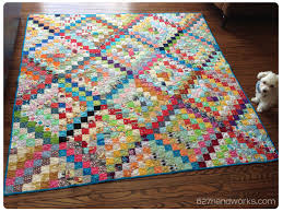 Trip Around The World Quilt Pattern Delectable Scrappy Trip Around The World Done 48handworks