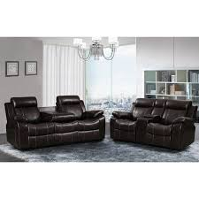 sherry furniture. Sherry Dark Brown Leather Air 2 Pc Reclining Sofa And Gliding Loveseat Set - Free Shipping Today Overstock 20232362 Furniture R