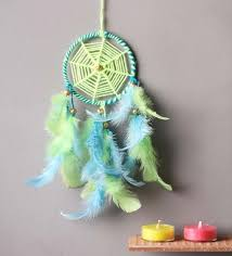 Buy A Dream Catcher Buy Rooh Wellness Neon Green Blue Wool Dream Catcher Online 44