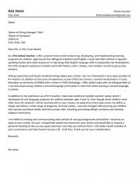 Education Cover Letters Elementary School Teacherover Letters Teacher Cover Letter