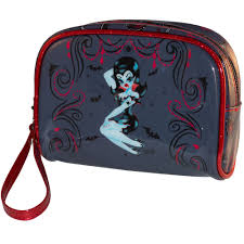 details about kreepsville glire miss fluff pin up vire punk goth emo makeup bag bmgl
