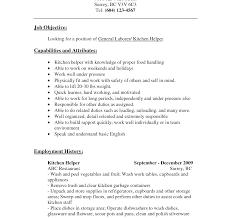 Kitchen Skills For Resume Kitchen Skills For Resume Prepossessing