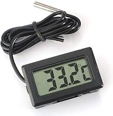 Eidyer <b>Digital LCD Thermometer Temperature</b> Monitor with External ...