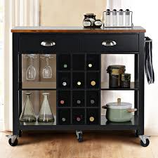 Wine Cabinet Black Eci Kitchen Island With Pull Out Table Bench Kitchen Table Foter