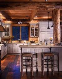 cabinets uk cabis: log cabin kitchen i love the distressed white cabinets they make charming kitchen dining pinterest the natural cabinets and cabin