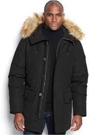 men s fashion jackets parkas black parkas michael michael kors michl michl kors mandal faux fur trim hooded down parka