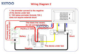 aliexpress com buy blue red led display dc 0 100v 500a dual volt Defi Meter Wiring Diagram blue and red led display dc 0 100v 500a dual volt amp meter digital amperemeter voltmeter ammeter volt amp meter free shipping Meter Pedestal Wiring Diagrams