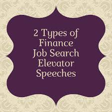 Elavator Speech Job Search Elevator Pitch For Finance And Investments
