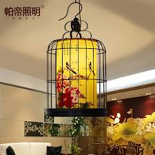 get ations pardy new chinese antique birdcage chandelier creative personality wrought iron birdcage chandelier lamp hotel restaurant restaurant