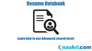 Resumes Search How To Search Resumes In Naukri Advanced Search Form