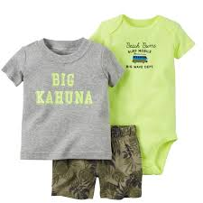 summer boy clothes newborn baby set <b>letter T shirt</b> tops+bodysuit+ ...