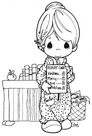 Small Picture Lovely Teacher Precious moments coloring pages Coloring Pages