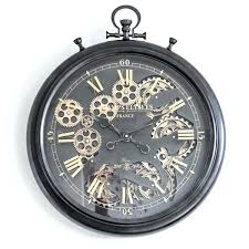 gear wall clock decorative steampunk moving india