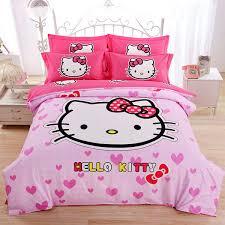 casa 100 cotton brushed kids bedding hello kitty duvet cover set flat sheet 4