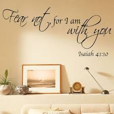 bible verses wall decals bible quote vinyl wall art stickers fear not for i am with on scripture vinyl lettering wall art with wall decal bible verses wall decals inspiration scripture wall