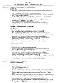 Nursing Resume Skills Perioperative Nurse Resume Samples Velvet Jobs 11
