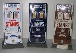 Old Stamp Vending Machine Magnificent US Postage Stamp Machine Deco Porcleain Collectors Weekly