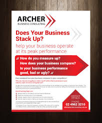 how to make a good flyer for your business serious modern business flyer design for ic hosting pty ltd by