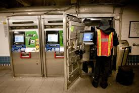 Metrocard Vending Machine Impressive Machine Guards Device An MTA Employee Services A MetroCard Vending