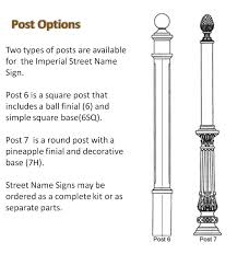 Decorative Sign Posts Imperial Street Signs Decorative Round Street Sign Post Post 23
