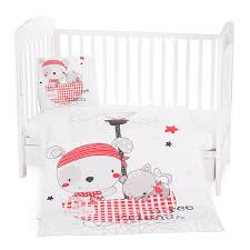 kikkaboo baby bedding set pirates 3 pcs