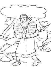 Small Picture 48 Moses and the 10 Commandments Bible Coloring Pages
