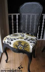 love the look of black chalk paint with a modern fabric seven sisters drab to fab