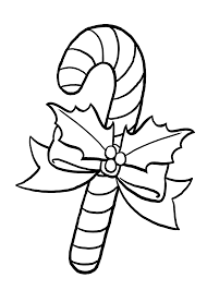 Christmas Candy Cane Coloring Pages For Kids Printable Free