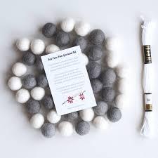 winter felt ball garland diy kit