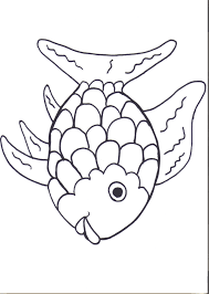 rainbow fish printables august pre themes child care within coloring page