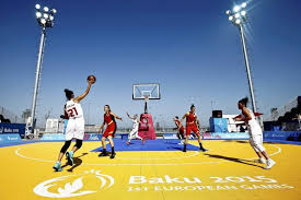 belgium and turkey play women s three on three basketball at the european in
