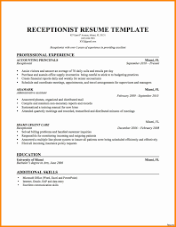 Sample Resume For Medical Receptionist Front Desk Medical Receptionist Sample Resume Brand Assistant Cover 58