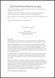 Resume Truck Driver Position Car Driver Resume Driver Sample Resume Truck Driver Resume Delivery