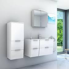 Badmöbel Set Gently 2 V3 L Hochglanz Weiß Badezimmermöbel Waschtisch
