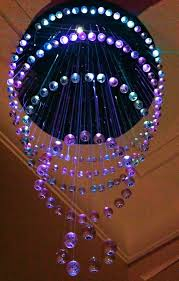 picture of led fiber optic chandelier