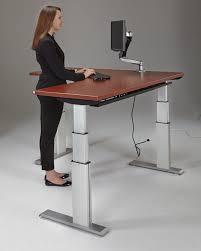 Desk Design Ideas: Elegante Working Adjustable Standing Desk ... Elegante  Working Adjustable Standing Desk Position For A More Ergonomic Solution  Corner ...