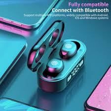 5.0 Bluetooth Wireless Earphone <b>F9</b>-<b>6 TWS Wireless Bluetooth</b> With ...