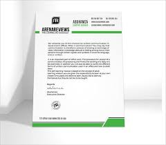 Sample Letter Head Free 15 Sample Company Letterhead Templates In Illustrator