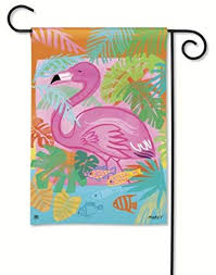 flamingo garden flags.  Garden BreezeArt Fancy Flamingo Garden Flag 32055 With Flags I