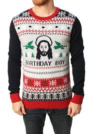 Ugly Christmas Sweater Men's Jesus Birthday Boy Pullover Sweater ...
