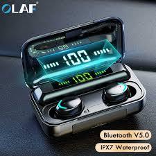 <b>Olaf Bluetooth</b> 5.0 <b>Wireless Headphones Earphones</b> F9 TWS ...